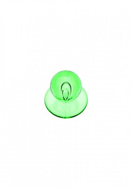 12x Kugelknopf Grün transparent