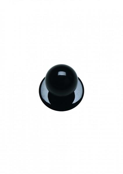 12x Kugelknopf schwarz