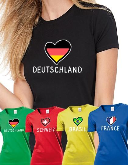 Damen T-shirt WM 2018 Motiv Herz
