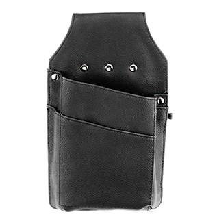 Tragbare Kassensysteme/ Kassierhalfter schwarz aus Echt Leder