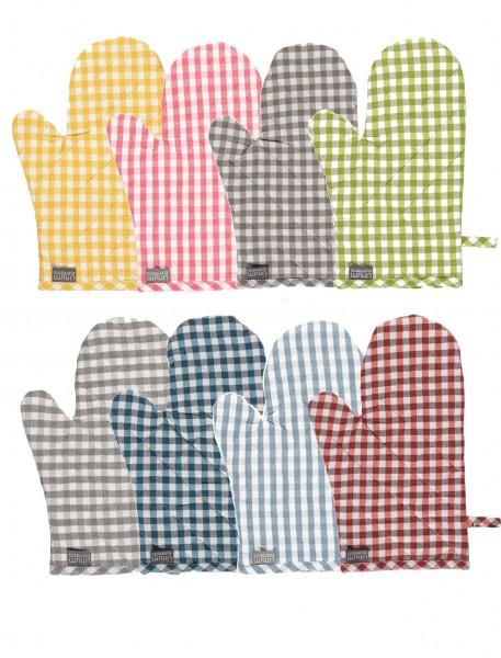Topfhandschuh kariert - Osby von Linum in 8 verschiedenen Farben
