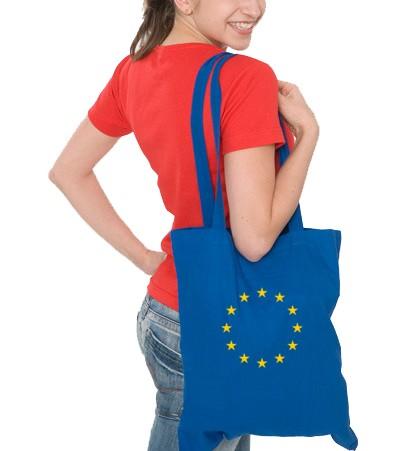 Baumwolltasche/ EU-Sterne/ Lang Henkel