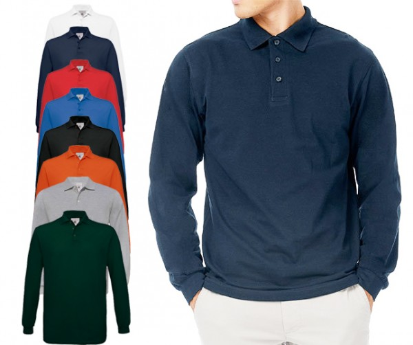 Poloshirt Safran Longsleeve / Unisex