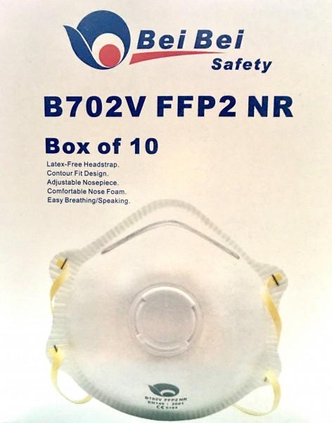 FFP-2 Maske mit Ventile, 10er Pack