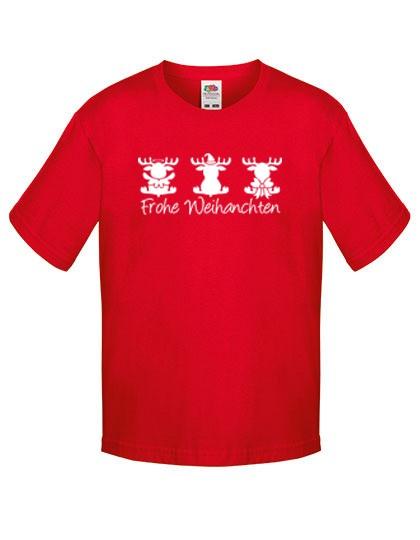 Kinder T-Shirts mit Weihnachtsmotiv-Elch