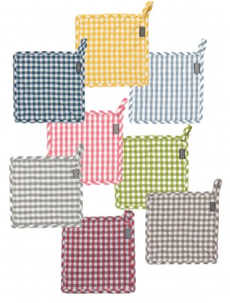 Topflappen kariert - OSBY von Linum in 8 verschiedenen Farben