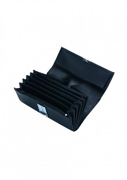 Kellnerbörse 5 Scheinfächer, Kunstleder in schwarz