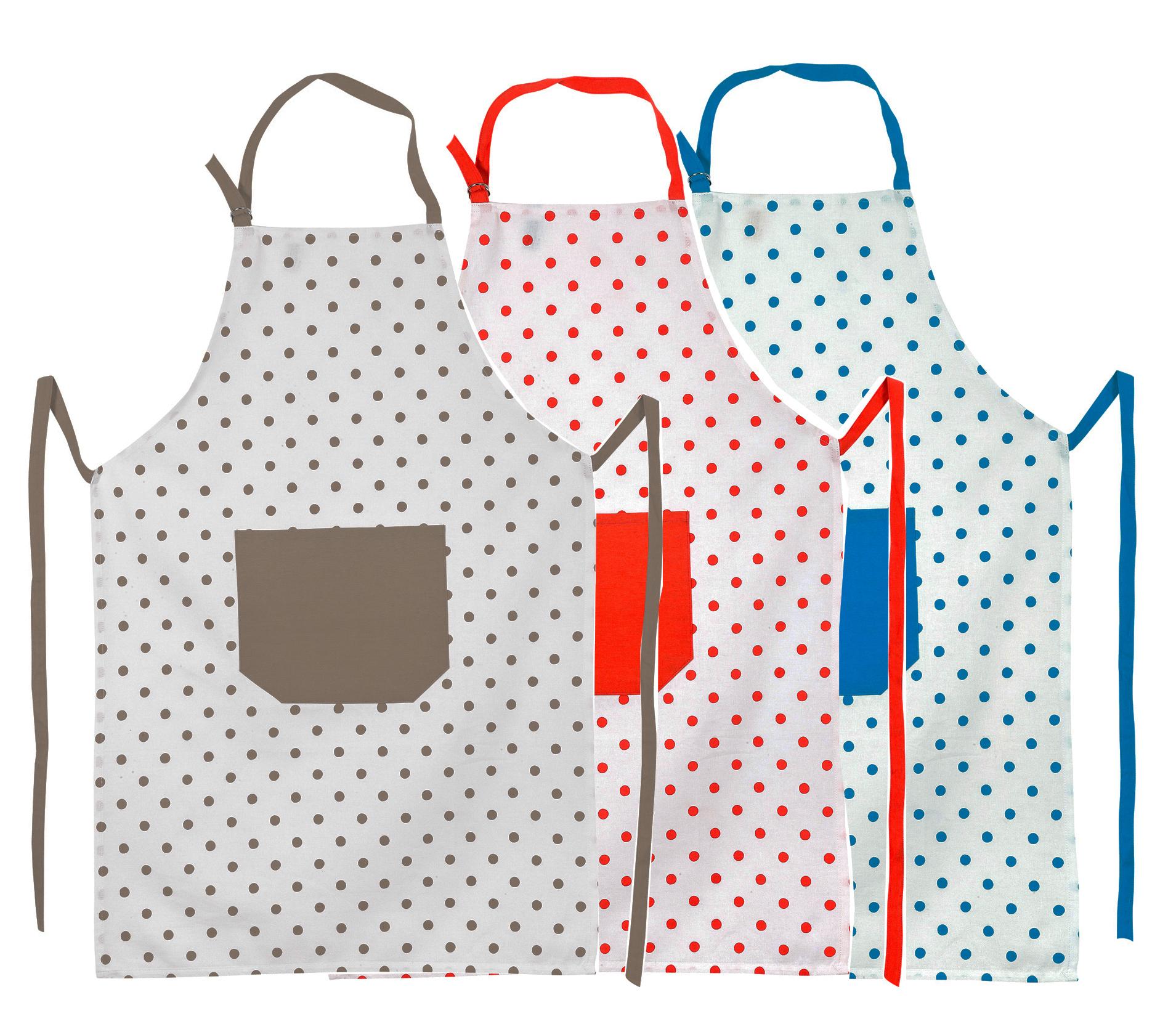 Kuchenschurze Punkte In 3 Farben 100 Baumwolle Mit Taschen Latzschurzen Schurzen Schurzenshop Munchen