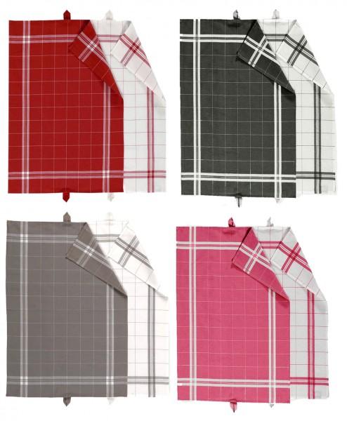 COOK Geschirrtücher - 2er Set - Linum - in vier Farben