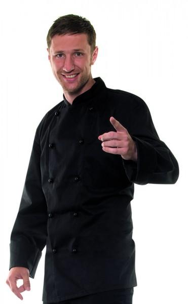 Kochjacke Basic von Karlowsky, in Schwarz oder Weiß, Größe XS-4XL