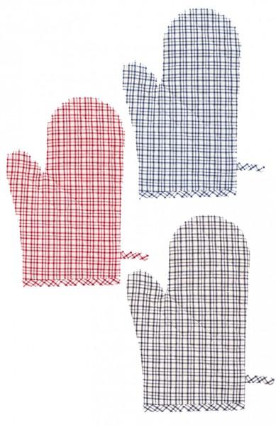 Topfhandschuh karriert - Brita von Linum in 4 verschiedenen Farben