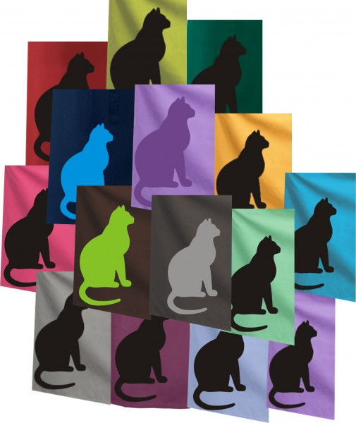Schürze mit Katze in 28 versch. Farben