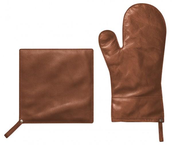 Topfhandschuh aus 100% echtem Leder - Fuego von Linum