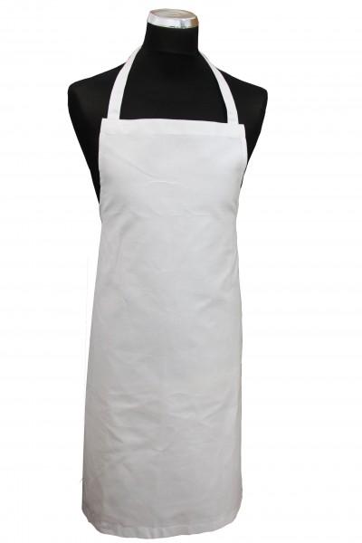 Weiße Latzschürze aus 100% Baumwolle